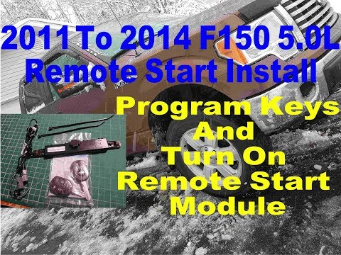 2011 2014 Ford F150 OEM Remote Start Starter Install With Module And Key Program