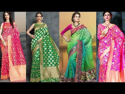 Designer Banarasi Latest Trendy Silk Saree Collections | Banarasi Silk Saree|Trendy India