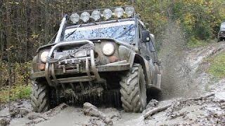 УАЗ плавает в грязи!!!