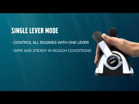 Volvo Penta's Single-lever mode and boat throttle controls