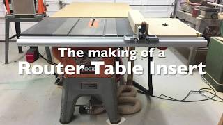 The Making of a Router Table Top