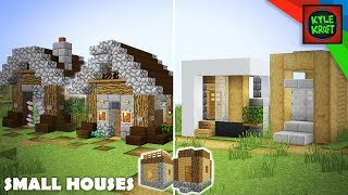 Minecraft: Modern vs Medieval Village Transformation! Small Houses YouTube
