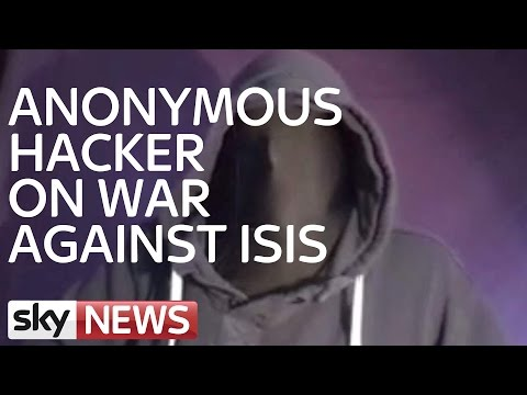 Anonymous Hacker On Cyber War Against Islamic State