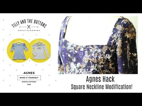 Agnes Square Neckline Hack DIY   Inspired by Vanessa Pouzet Wanted Top   RunningNStyle