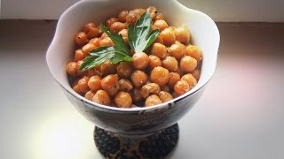 Rosemary Smoked Garlic Chickpeas / Spanish Tapas recipe