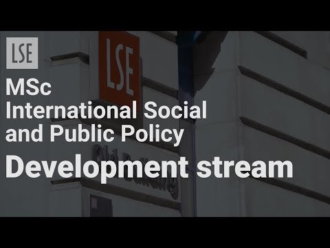 MSc International Social and Public Policy Development Stream