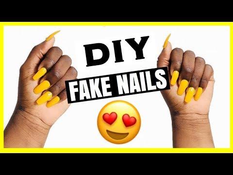 DIY : FAKE NAILS AT HOME !!! CHEAP, QUICK & EASY ( No Gel, No Glue, No Acrylic)