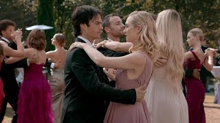 The Vampire Diaries: 8x09 - Elena and Damon first dance memories, Caroline helps him to fight [HD]