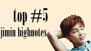 top #5 jimin live highnotes