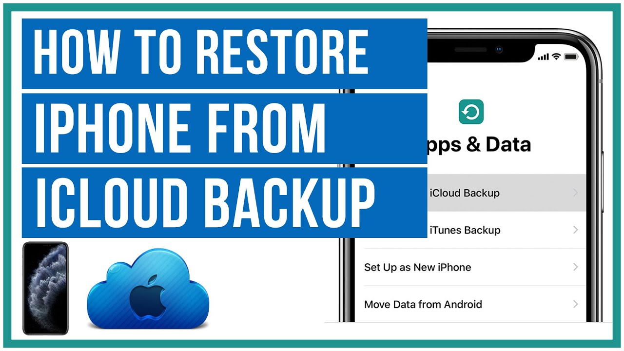 How To Restore Iphone From An Icloud Backup Full Tutorial Youtube