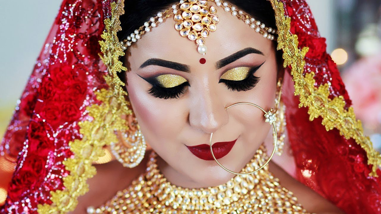 summer long lasting indian bridal makeup tutorial in hindi (sweat  proof/water proof)
