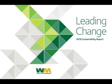 Waste Management 2016 Sustainability Report