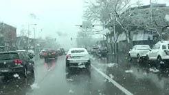 April blizzard dumps snow on South Broadway in Denver