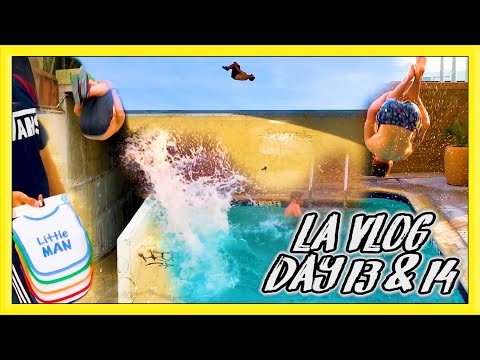 PARKOUR at a DAM, POOL CHALLENGES & MORE FUN | LA VLOG DAY 13 & 14