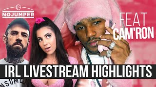 Adam22 and Lena The Plug Streaming In Search Of Cam'ron