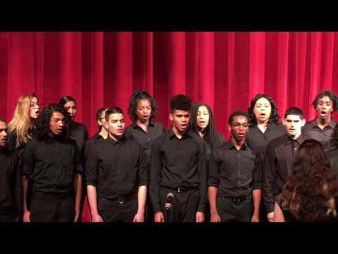 Celia Cruz Bronx High School of Music's Stage Choir Singing