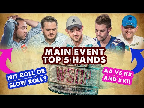 2018 WSOP Main Event Top 5 Hands | World Series Of Poker