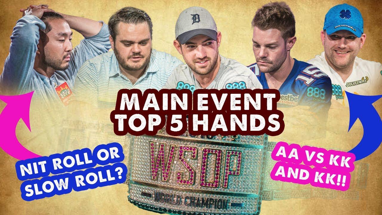 2018 WSOP Main Event Top 5 Hands | World Series of Poker