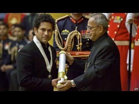 President Of India Presents Bharat Ratna To Prof. CNR Rao And Shri Sachin Tendulkar - 04-02-14