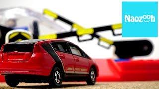 トミカ  インサイト  踏切を渡る /プラレール 新幹線E3系 クリア コラボ / Tomica Plarail  Stop motion movie thumbnail