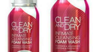 CLEAN and DRY intimate cleansing foam wash review thumbnail