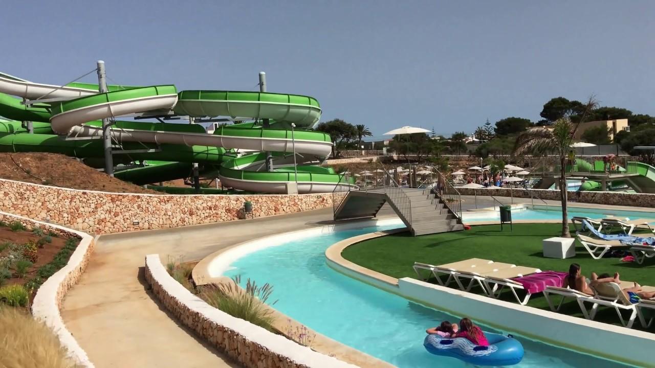 Splash Sur Waterpark In Menorca Youtube