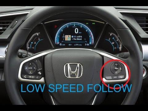 Honda sensing package - Low speed follow demonstration