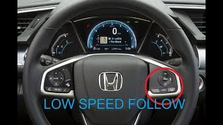 Honda sensing  - Low speed follow demonstration