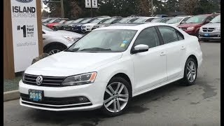 2015 Volkswagen Jetta Highline W/ Leather, Moonroof, Backup Camera Review| Island Ford