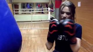 Бокс. Тренировка для девушек.