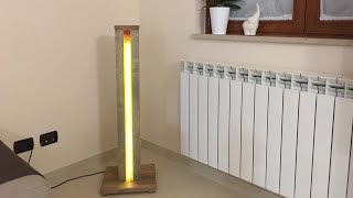Lampada legno e resina