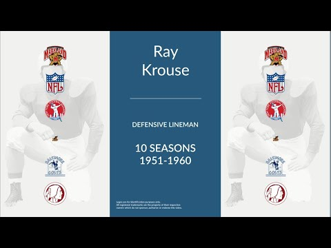 Ray Krouse: Football Defensive Lineman