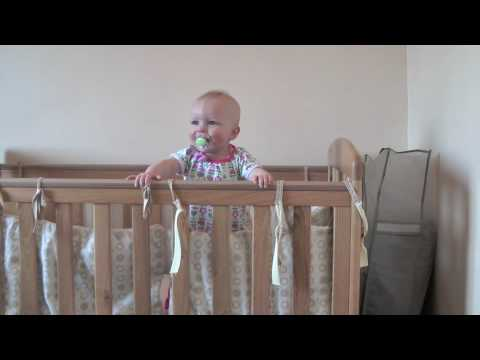 Olivia Standing In Cot (7 months)