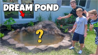 SURPRISING KID with His DREAM POND!!!