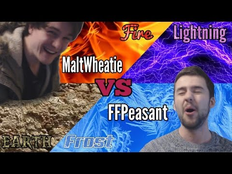 Final Fantasy TCG gameplay: Lightning/Ice Vs Earth/Fire (how to play demo match)
