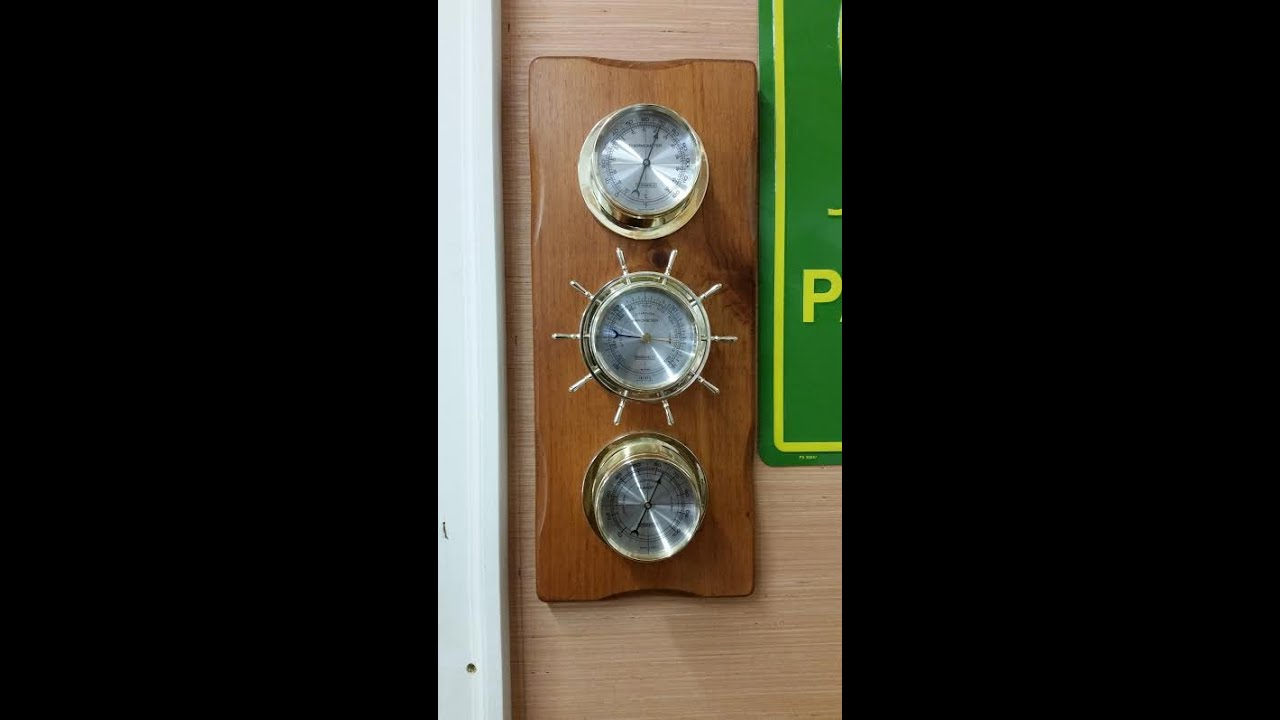 traditional springfield weather station made in usa by kvusmc youtube rh youtube com Springfield Barometer Thermometer Humidity Meter Springfield Barometer Adjustment