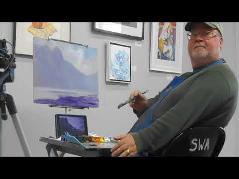 Society of Western Artists presents Donald Neff, Snow Scene in Oils