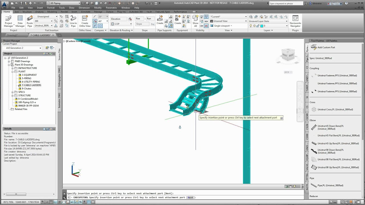 Cable ladder in plant 3d 1 by bit youtube for 3d drawing online no download