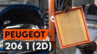 How to replace Air Filter on PEUGEOT 206 CC (2D) - video tutorial