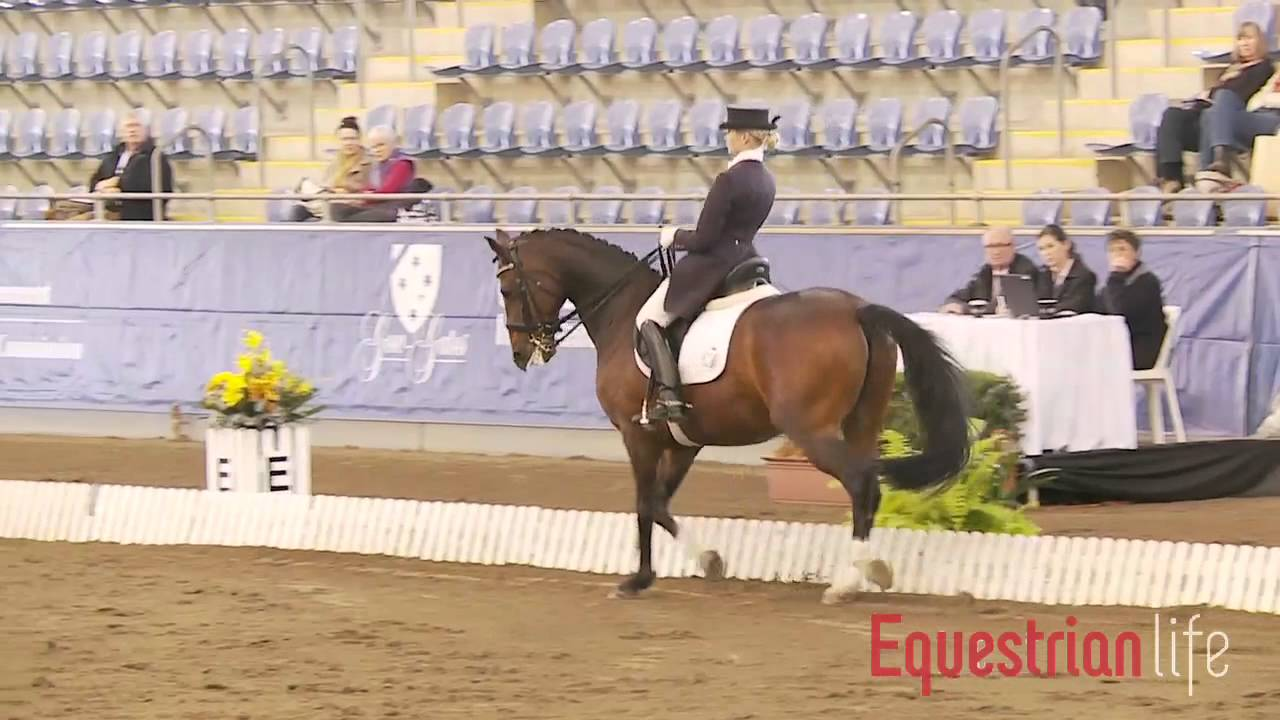 Kathryn Crofts and Snapdragon Advanced Freestyle at the Sydney CDI 2012