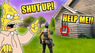 GRANDPA HOLDS LITTLE KID HOSTAGE! *VOICE TROLLING!* | Fortnite Battle Royale