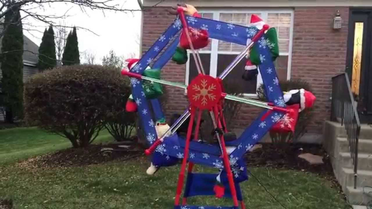 7 Gemmy Animated Christmas Ferris Wheel Youtube Yard Decorations