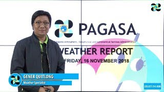Public Weather Forecast Issued at 5:00 AM November 16, 2018
