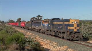 POTA Container train near Bendigo.  Wed 18/10/11