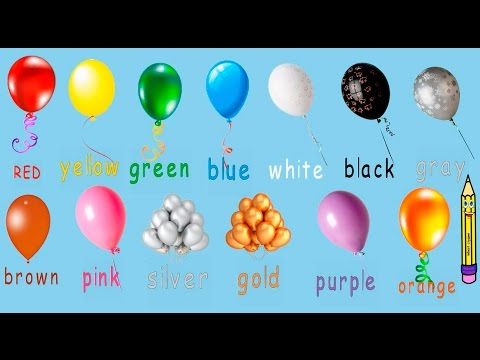 Учим цвета на английском. Learn The Colours