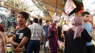Ulus Fishermen's Bazaar walking Tour Ankara,Turkey 4K