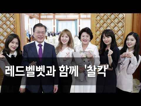 """레드벨벳ㆍ서현, 청와대 오찬 참석 """"반갑습니다"""""""