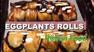 Italian Food Eggplant Rollatini Recipe Roll Eggplant Baked #food #italianfood