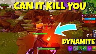 Does Holding TNT DYNAMITE Kill You in Fortnite?