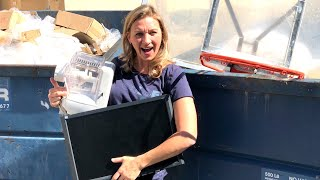 Dumpster Diving- Looking for stuff to Donate to Charity